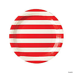 My Mind's Eye™ Red Striped Paper Dinner Plates - 12 Ct.