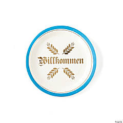 My Mind's Eye™ Willkommen Oktoberfest Dinner Plates
