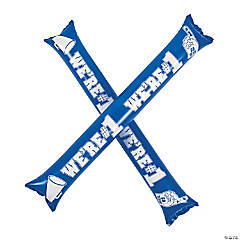 Mylar Blue Team Spirit Boom Sticks