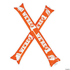 Mylar Orange Team Spirit Boom Sticks