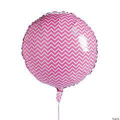 Mylar Pink Chevron Balloon