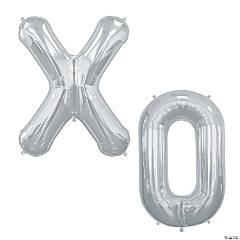 """Mylar """"XO"""" Mylar Letter Balloons"""