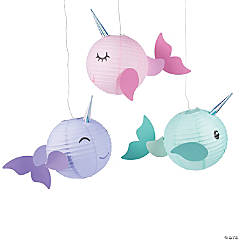 Narwhal Party Paper Lanterns