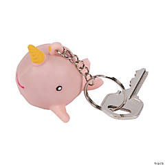 Narwhal Water Spout Squeeze Keychains