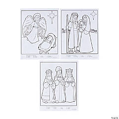 Nativity Color by Number Poster Set