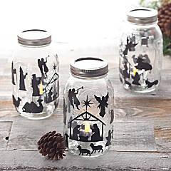 Nativity Mason Jar Craft Kit for 24