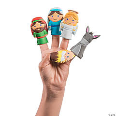 Nativity Puffy Molded Finger Puppets