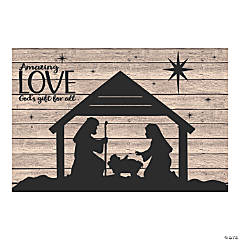 Nativity Silhouette Barnwood Backdrop