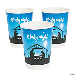 Nativity Silhouette Coffee Cups