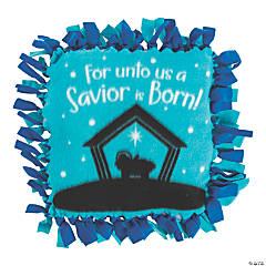 Nativity Silhouette Fleece Tied Pillow Craft Kit