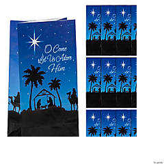 Nativity Silhouette Treat Bags