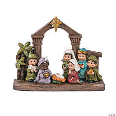 Nativity Stable Tabletop Decoration
