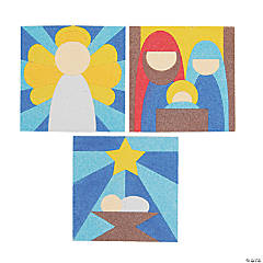 Nativity Stained Glass Sand Art Pictures