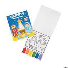 Nativity Watercolor Paint Activity Books