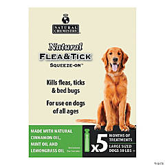 Natural Flea & Tick Squeeze On For Large Dogs 5/Pkg-