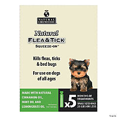 Natural Flea & Tick Squeeze On For Small Dogs 5/Pkg-