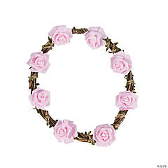 Natural Wreath with Pink Floral Accents
