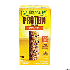 NATURE VALLEY Protein Chewy Granola Bars Peanut Butter Dark Chocolate, 1.42 oz, 26 Count