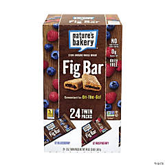 NATURE'S BAKERY Fig Bars Variety Pack - 24 Pieces