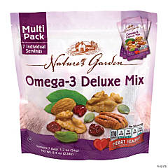 Nature's Garden Omega-3 Deluxe Mix, 1.2 oz, 7 Count, 6 Pack