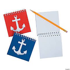 Nautical Cutout Spiral Notebooks