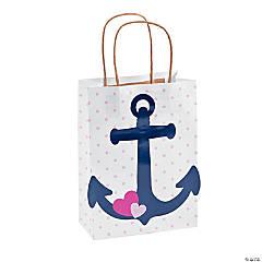 Nautical Girl Kraft Paper Bags