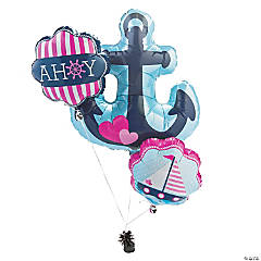 Nautical Girl Mylar Balloons (15 3/4