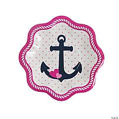 Nautical Girl Paper Dessert Plates - 8 Ct.