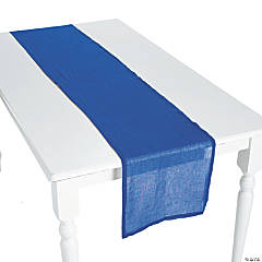 Navy Blue Gauze Table Runners