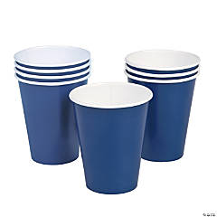 Navy Blue Paper Cups - 24 Ct.
