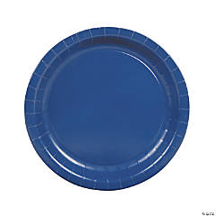 Navy Blue Paper Dinner Plates - 24 Ct.