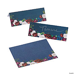 Navy Floral Place Cards