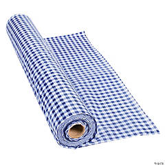 Navy Gingham Tablecloth Roll