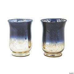 Navy Ombre Hurricane Vases