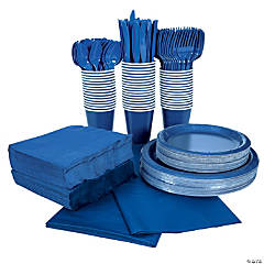 Navy Tableware Party Pack for 48