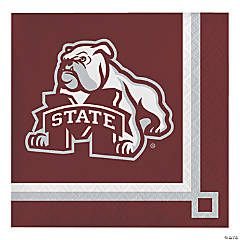 NCAA Mississippi State University Beverage Napkins 60 Count