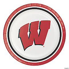 NCAA University of Wisconsin Paper Plates 24 Count