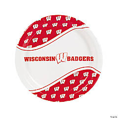 NCAA™ Wisconsin Paper Dinner Plates - 8 Ct.
