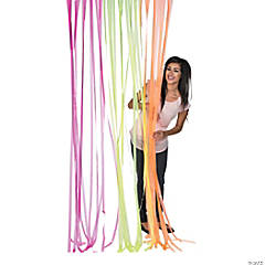 Neon Fringe Door Curtain