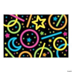 Neon Glow Party Backdrop Banner