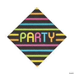 Neon Glow Party Luncheon Napkins