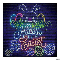 Neon Lights Easter Backdrop