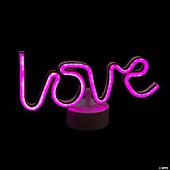 Neon Love Tabletop Sign