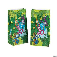 Neon Monkey Paper Goody Bags