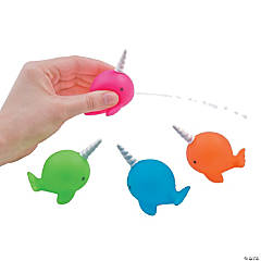 Neon Narwhal Squirt Toys