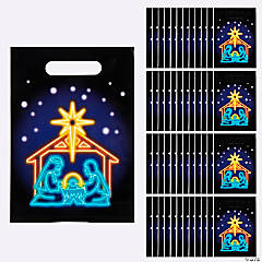 Neon Nativity Goody Bags