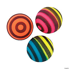 Neon Striped Bouncing Balls