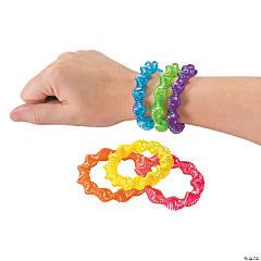 Neon Twist Coil Plastic Bracelets