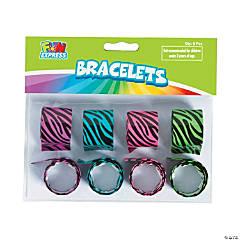 Neon Zebra Slap Bracelets