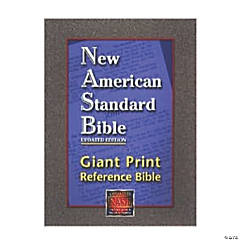 New American Standard Bible Giant Print Referenceerence Bible - Black